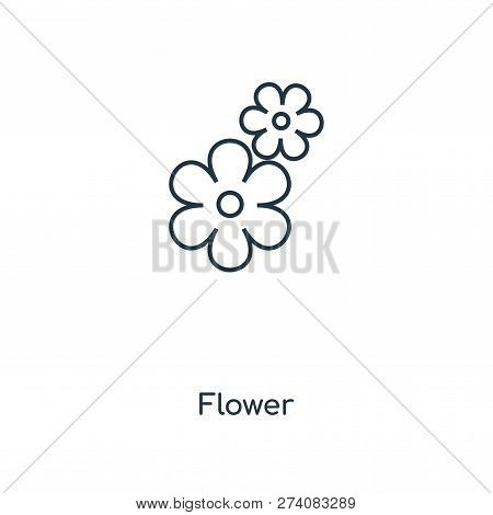 Flower Icon In Trendy Design Style. Flower Icon Isolated On White Background. Flower Vector Icon Sim