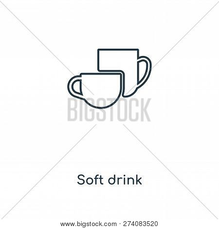 Soft Drink Icon In Trendy Design Style. Soft Drink Icon Isolated On White Background. Soft Drink Vec