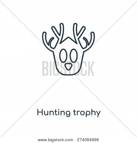 Hunting Trophy Icon In Trendy Design Style. Hunting Trophy Icon Isolated On White Background. Huntin