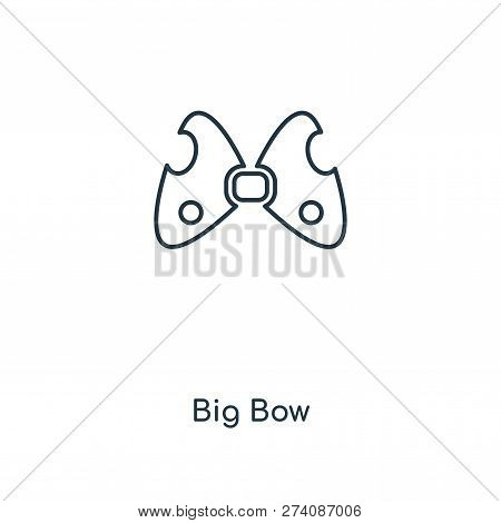 Big Bow Icon In Trendy Design Style. Big Bow Icon Isolated On White Background. Big Bow Vector Icon