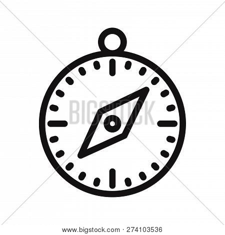 Compass Icon Isolated On White Background. Compass Icon In Trendy Design Style. Compass Vector Icon