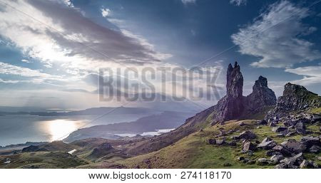 The Old Man Of Storr On The Isle Of Skye During Sunrise