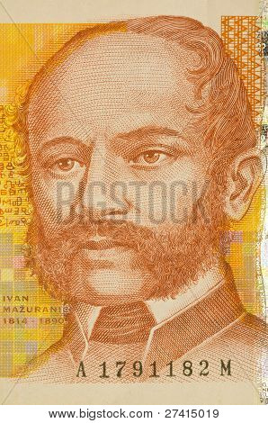 Portrait Of 100 Kuna Croatian Banknote