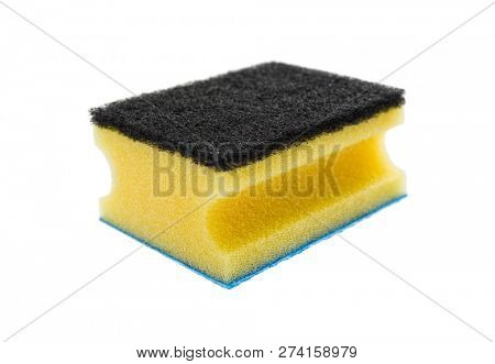 Sponge dish isolated on white background, included clipping path