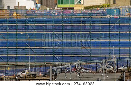 Gosford, New South Wales, Australia - September 12, 2018: Construction And Building Work On Gosford