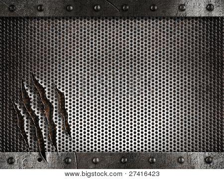 metal damaged grate background