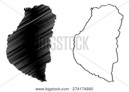 Entre Rios (region Of Argentina, Argentine Republic, Provinces Of Argentina) Map Vector Illustration
