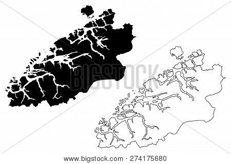 More Og Romsdal (administrative Divisions Of Norway, Kingdom Of Norway) Map Vector Illustration, Scr