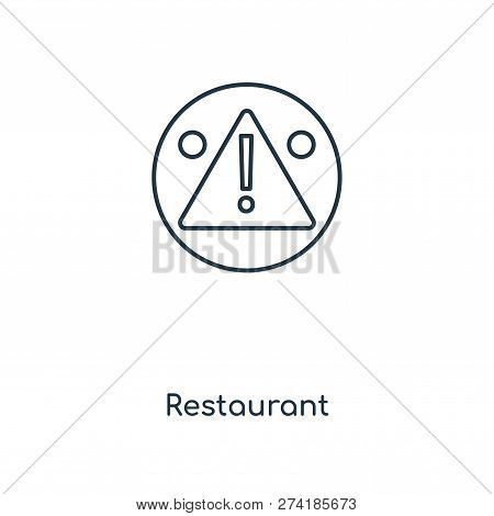 Restaurant Icon In Trendy Design Style. Restaurant Icon Isolated On White Background. Restaurant Vec