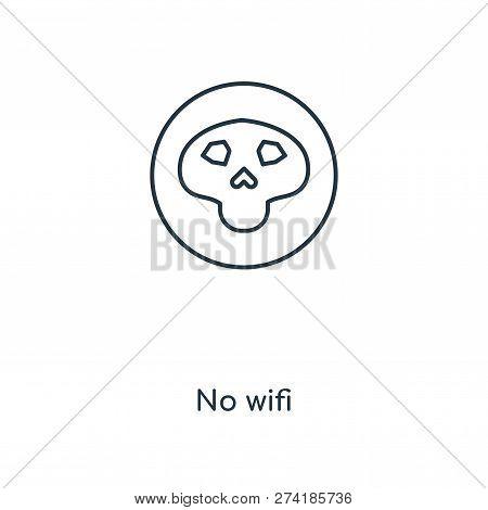 No Wifi Icon In Trendy Design Style. No Wifi Icon Isolated On White Background. No Wifi Vector Icon