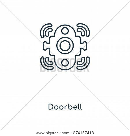 Doorbell Icon In Trendy Design Style. Doorbell Icon Isolated On White Background. Doorbell Vector Ic