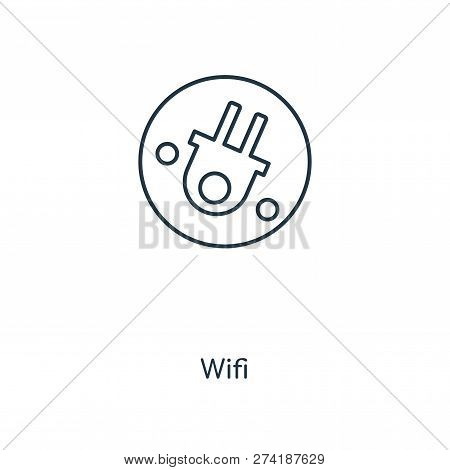 Wifi Icon In Trendy Design Style. Wifi Icon Isolated On White Background. Wifi Vector Icon Simple An