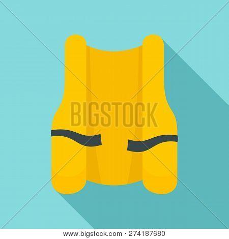 Rescue Vest Icon. Flat Illustration Of Rescue Vest Vector Icon For Web Design