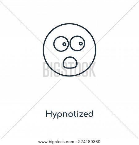 Hypnotized Icon In Trendy Design Style. Hypnotized Icon Isolated On White Background. Hypnotized Vec
