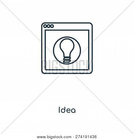 Idea Icon In Trendy Design Style. Idea Icon Isolated On White Background. Idea Vector Icon Simple An