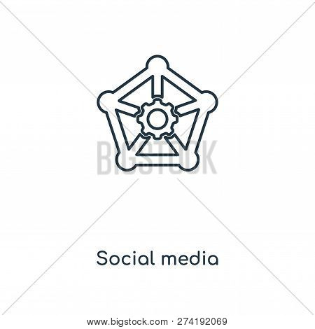Social Media Icon In Trendy Design Style. Social Media Icon Isolated On White Background. Social Med