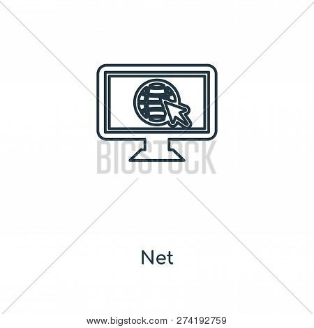 Net Icon In Trendy Design Style. Net Icon Isolated On White Background. Net Vector Icon Simple And M