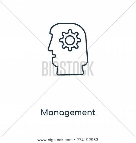 Management Icon In Trendy Design Style. Management Icon Isolated On White Background. Management Vec