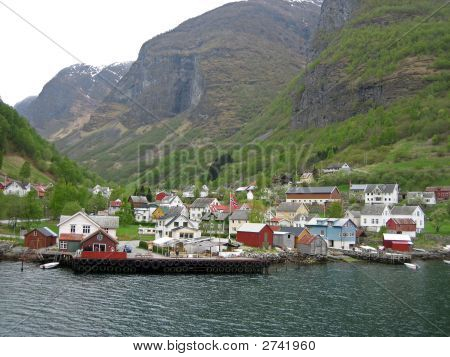 Remote Norwegian Village On A Fjord