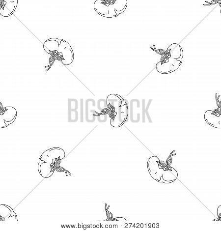 Sick Spleen Icon. Outline Illustration Of Sick Spleen Vector Icon For Web Design Isolated On White B