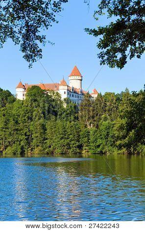 Konopiste Castle In Czech Republic And Pond