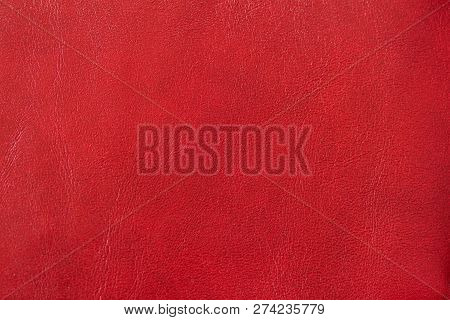 Genuine leather texture, spotted, painted, with wrinkle, crease, red color poster