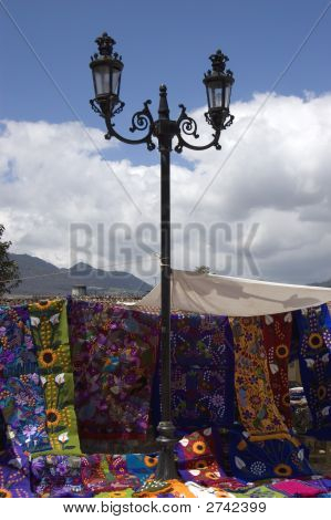 Street Lamp In Mexican Market