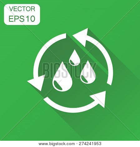 Water cycle icon. Business concept ecology pictogram. Vector ill poster