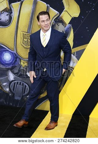 John Cena at the World premiere of 'Bumblebee' held at the TCL Chinese Theatre IMAX in Hollywood, USA on December 9, 2018.