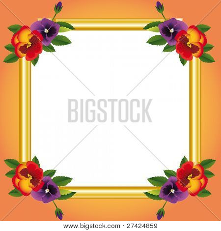 decorative frame with flower