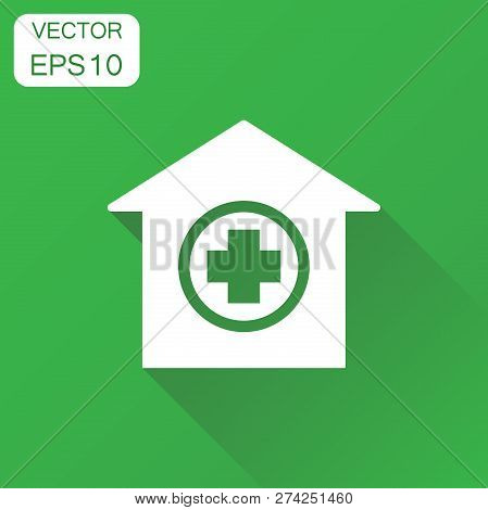 Hospital Building Icon. Business Concept Infirmary Medical Clini