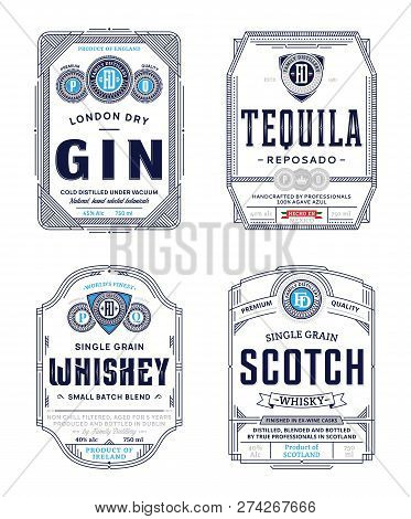 Alcoholic Drinks Labels