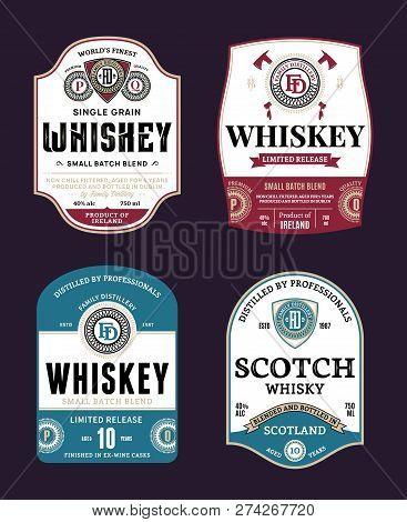 Whiskey And Scotch Whisky Labels