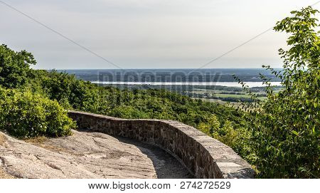Horizontal Landscape Of The Fields And Farmland As Seen From The Champlain Lookout On A Beautiful Su