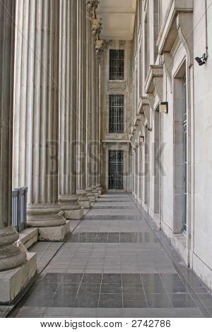 Stone Columns In A Judicial Law Building