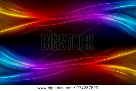 Colorful Abstract Rainbow Light Background. Royalty High-quality Free Stock Image Picture Of Rainbow