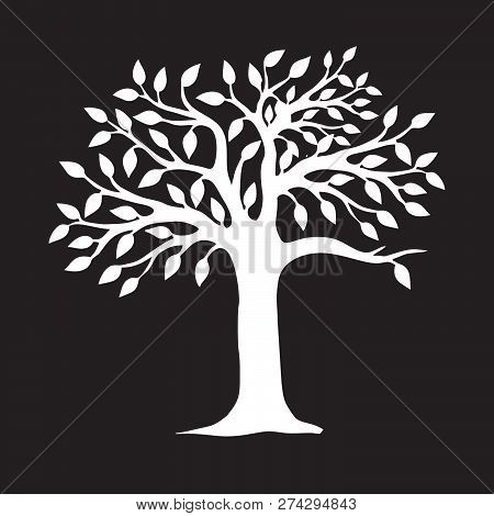 Decorative Tree, Vector Illustration, Eco Tree, Vector Illustration Tree Silhouette Icon, Tree Silho