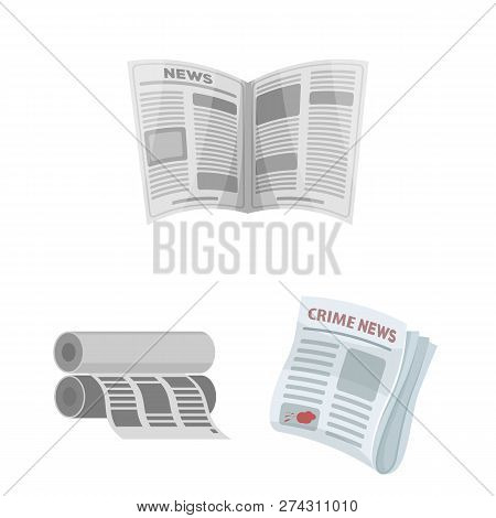 Vector Design Of Daily And Folded Icon. Set Of Daily And Paper Vector Icon For Stock.