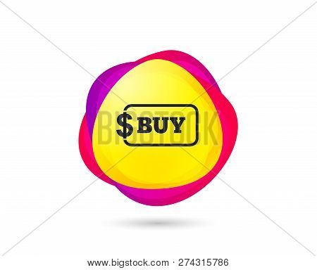 Gradient Shopping Banner. Buy Sign Icon. Online Buying Dollar Usd Button. Sales Tag. Abstract Templa