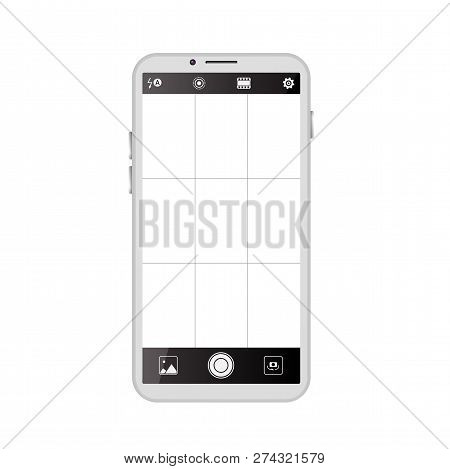 Smartphone Camera Viewfinder. Template Focusing Screen Of The Camera. Viewfinder Camera Recording. V