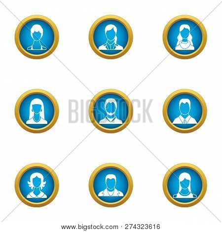 Personnel Icons Set. Flat Set Of 9 Personnel Icons For Web Isolated On White Background