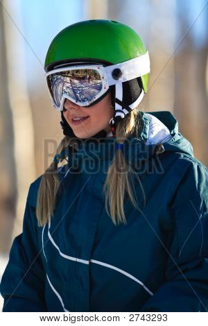 Young Female Skier