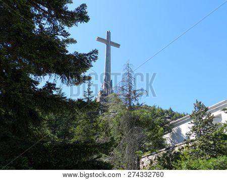 San Lorenzo De El Escorial, Spain, August 2012. Valle De Los Caidos, Tomb Of Francisco Franco.