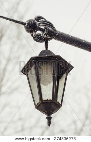 Street Vintage Light. Energy Saving Light Bulb. Energy Saving. Cheap Lighting.