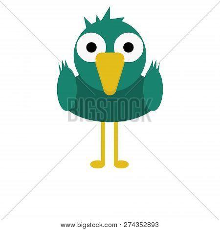 Bird Mallard Duck Vector Illustration Of A Cute Cartoon Animal Character For Kids.