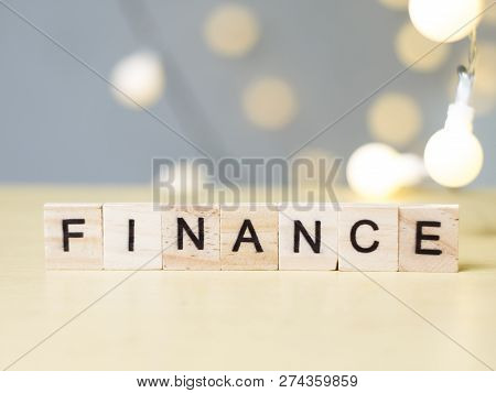 Finance, Business Motivational Inspirational Finance Quotes, Wooden Words Typography Lettering Conce