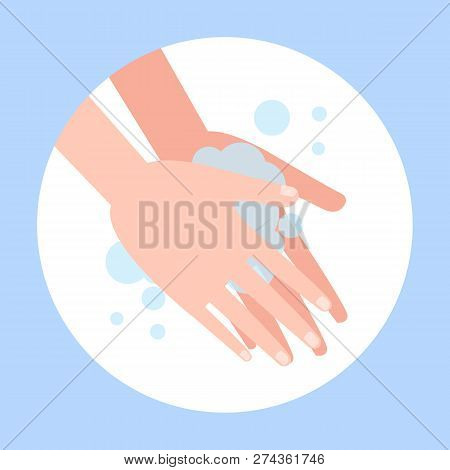Wash Hand With Soap. Washing Dirty Hands