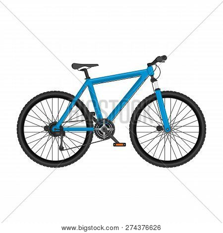 Mountain Bike In Realistic Style. Modern Bicycle Isolated On White Background. Highly Detailed Pictu