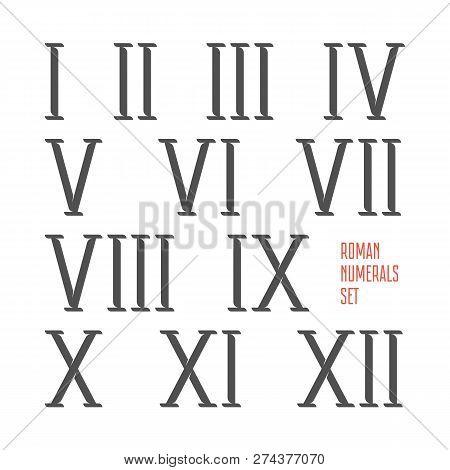 Roman Numerals Set Vector & Photo (Free Trial) | Bigstock