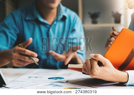 Business Adviser Analyzing Financial Figures Denoting The Progress In The Work Of The Company, Busin